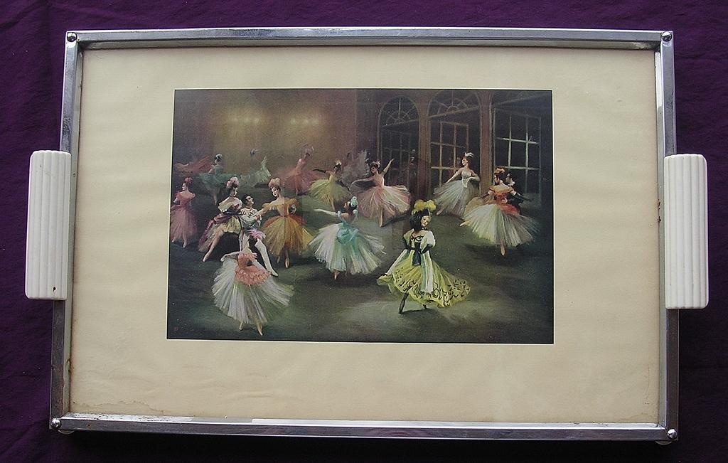 Retro 1950's 'Ballet Dancers' Tea Tray