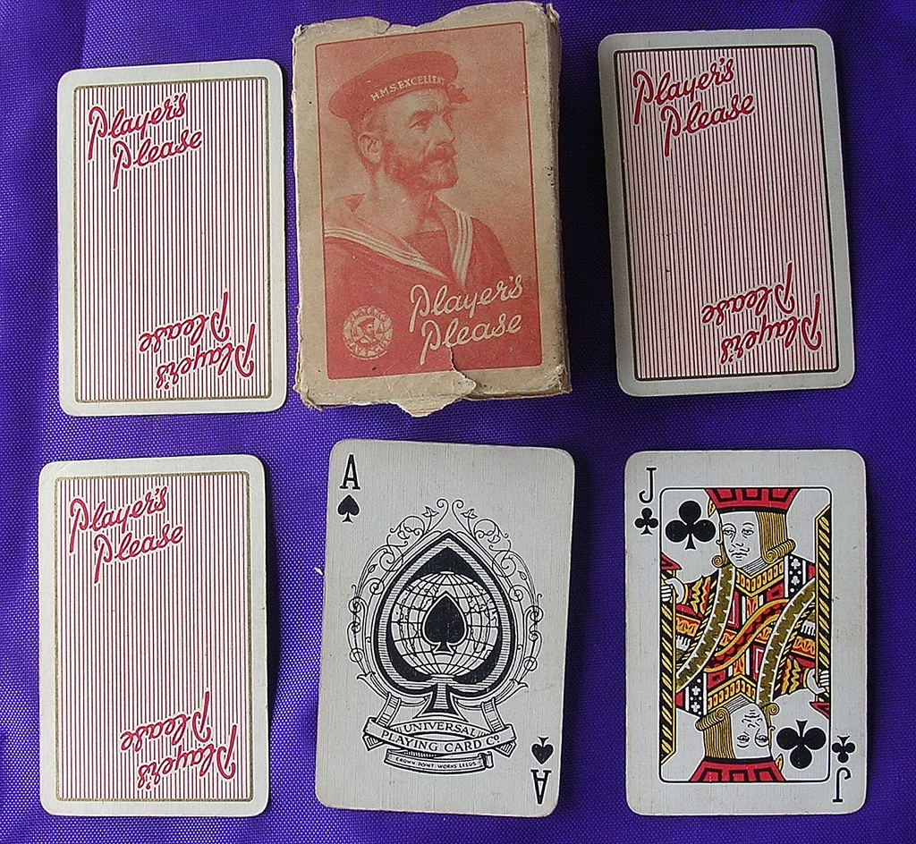 Vintage Cigarette Advertising Cards 'PLAYERS'