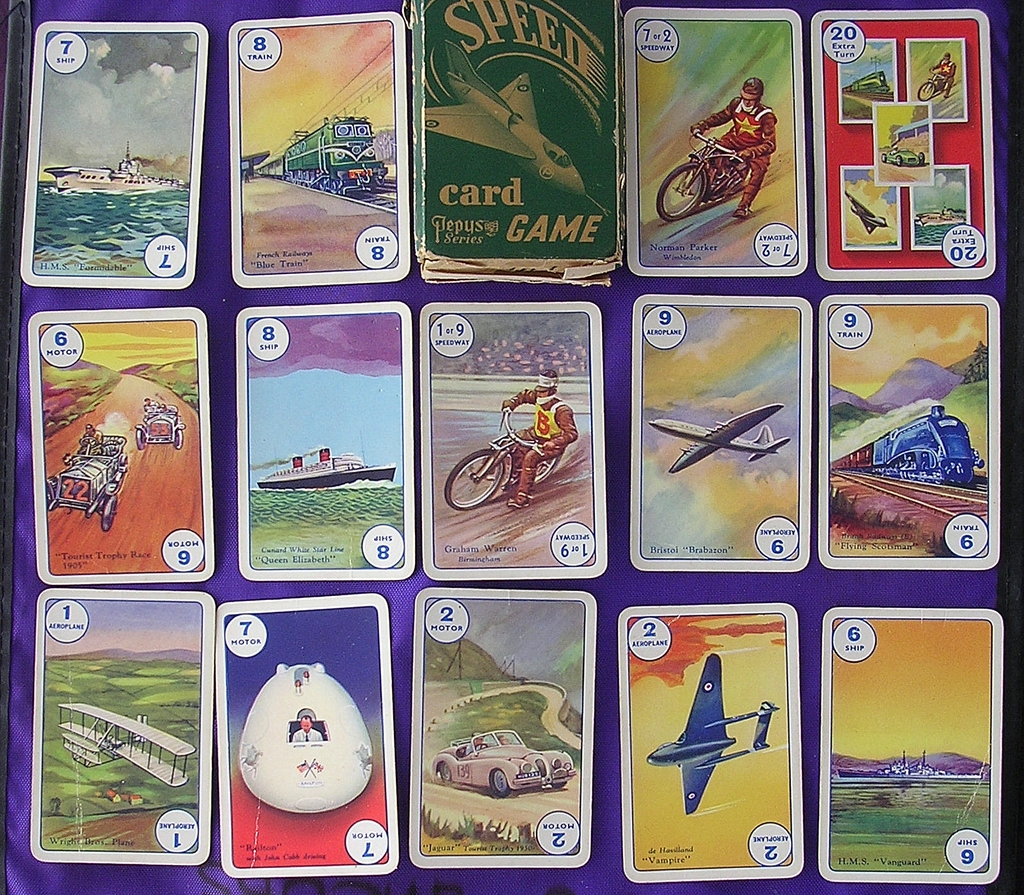 Vintage PEPYS Children's Playing Cards 'SPEED'