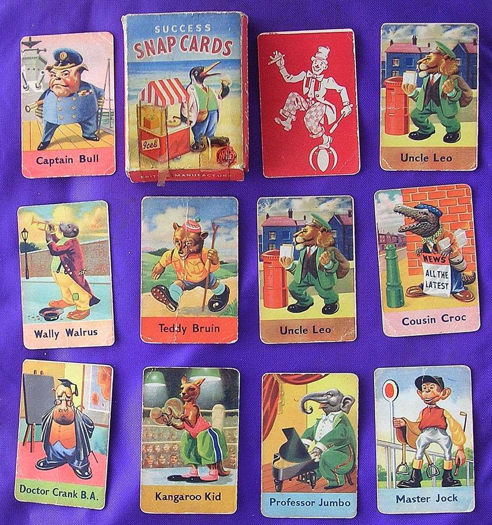 Vintage Children's Playing Cards Game 'SUCCESS SNAP'