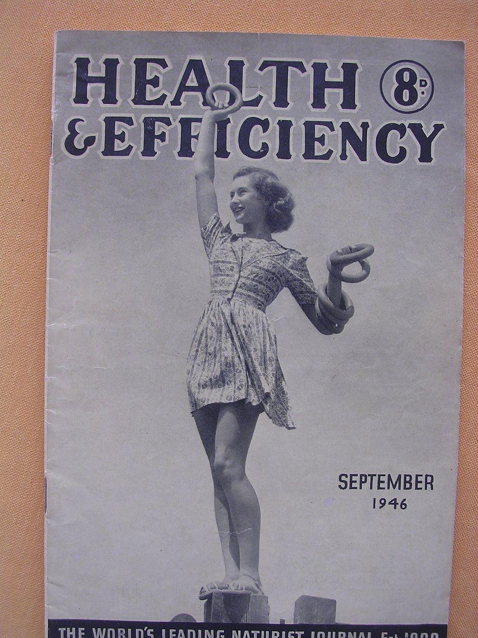 Vintage 1946 'Health & Efficiency' English Nudist Magazine
