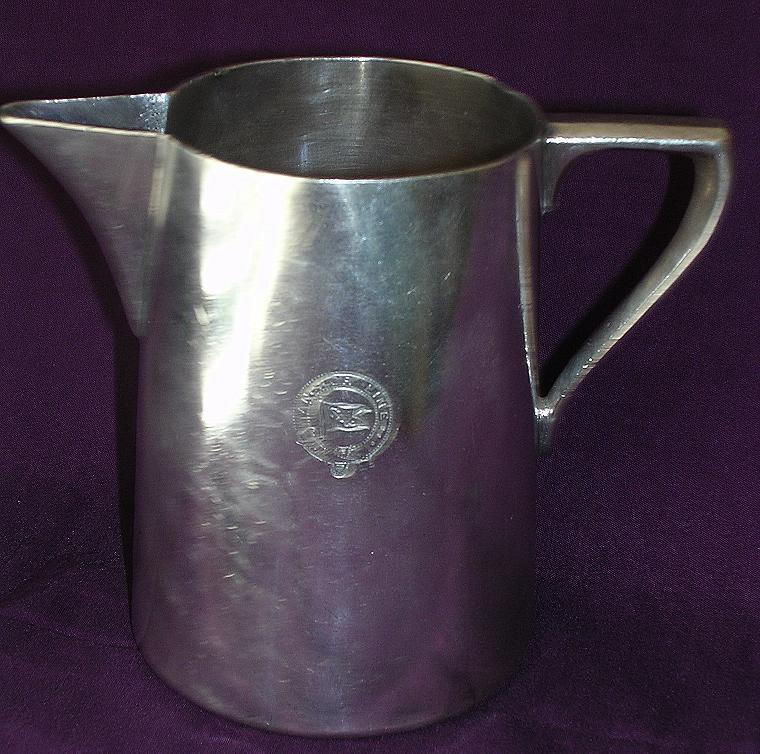 Old Anchor Line Silver Plated Milk Jug Circa 1900