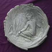 Art Nouveau Pewter Card Dish Circa 1890