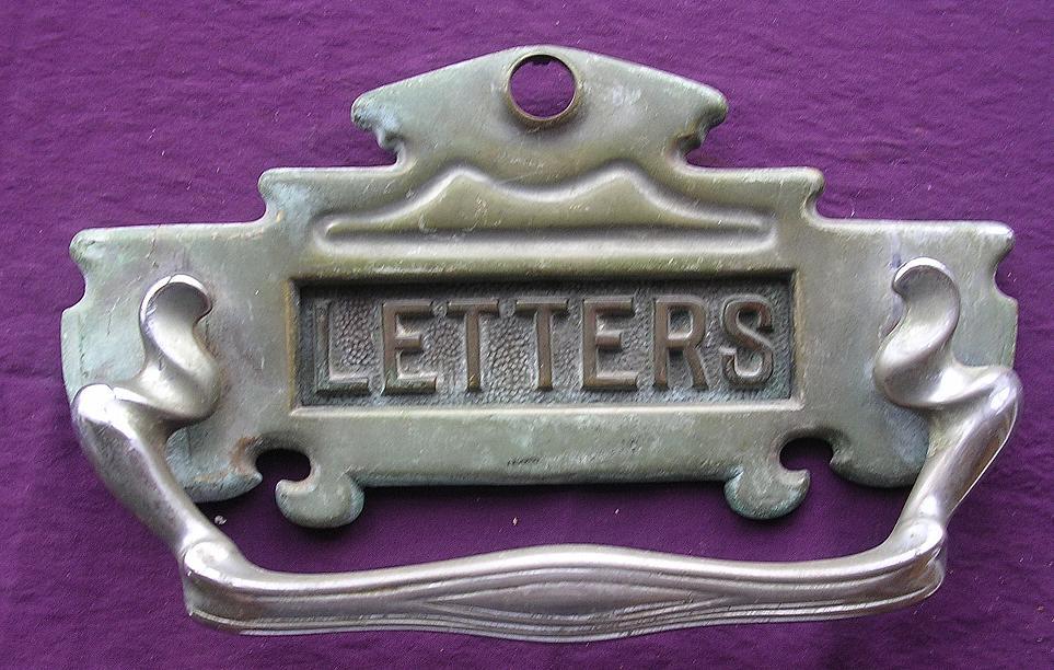 Large Victorian Door Knocker With Letter Slot