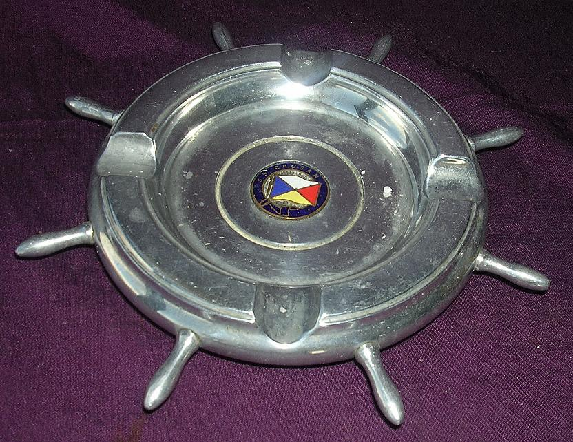 S.S.CHUSAN Souvenir Ashtray - P & O Line