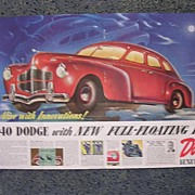 1939 DODGE Double Page Spread Advertisement