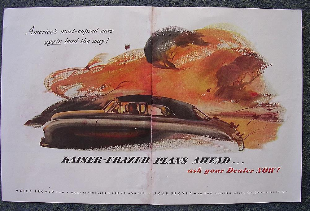 1948 KAISER - FRAZIER Double Page Spread Advertisement
