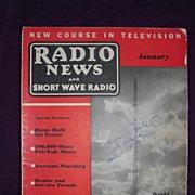 Radio News & Short Wave Radio Magazine January 1938