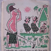 1956 Humorous Hawaiian Book 'Pulling The Stops On Hawaii' First Edition