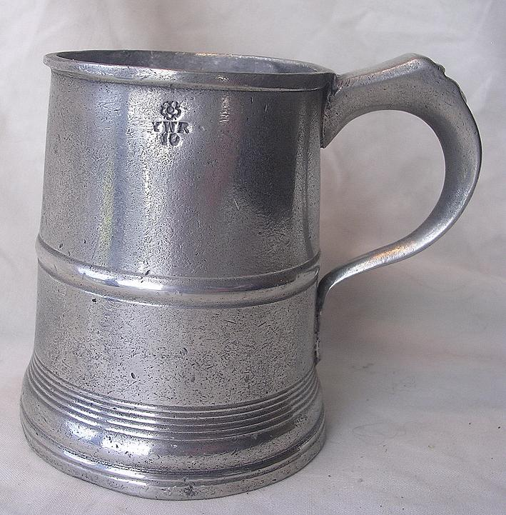 Victorian Polished Pewter Half Pint