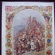 Coronation Of King George V & Queen Mary - Plate X1V The British Dominions Beyond The Seas