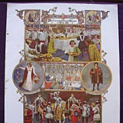 Coronation Of King George V & Queen Mary - Plate XV11 Coronation Pageantry Of The Past