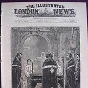'Memorial Service For The Late Emperor Of Russian The Greek Church, Moscow Road, Bayswater' Illustrated London News March 26 1881