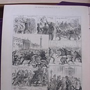 The Irish Land League Agitation: Sketches In Dublin Saturday Evening, Oct.15' - Illustrated London News Oct.29 1881