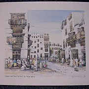 SPENCER W. TART. Limited Edition Print 'Jeddah Ash Sham - Off Baifi Square'