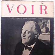 Rare - VOIR - French World War Two Magazine 1945 Number 27