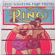 Rare Vintage 'The RING' Magazine Vol.XV11 September 1938