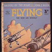 Rare Vintage Original 1938 'FLYING' Magazine