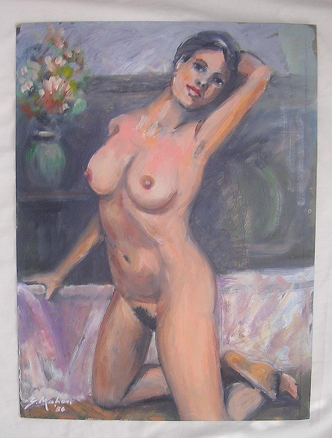 Nude Oil Painting By New Zealand Artist Gerald Mahon
