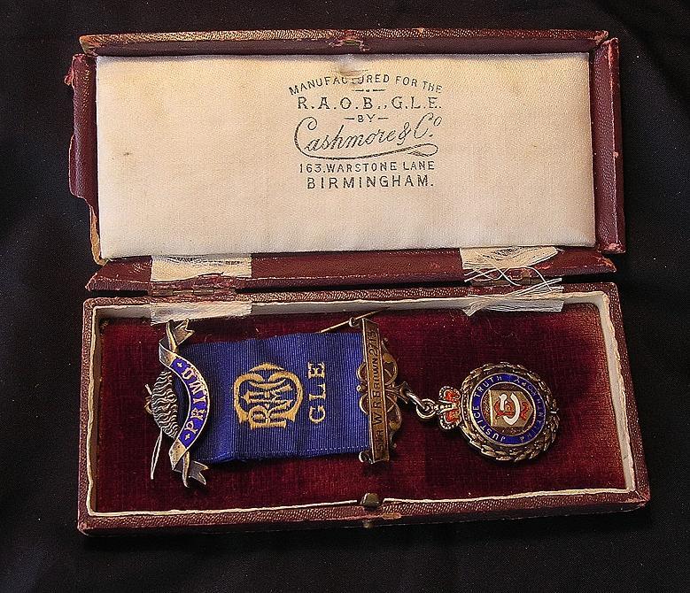 Royal Antediluvian Order of Buffaloes PRIMO Jewel 1928