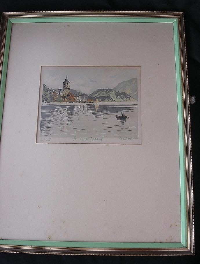 Vintage Signed & Numbered Print Of St. Wolfgang - Austria