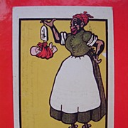 "BLACK AMERICANA 1907 Black Mammy Card ""Just Arrived"""