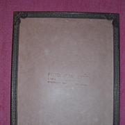 French Bronze Filigree Photo Frame Circa 1910-1920