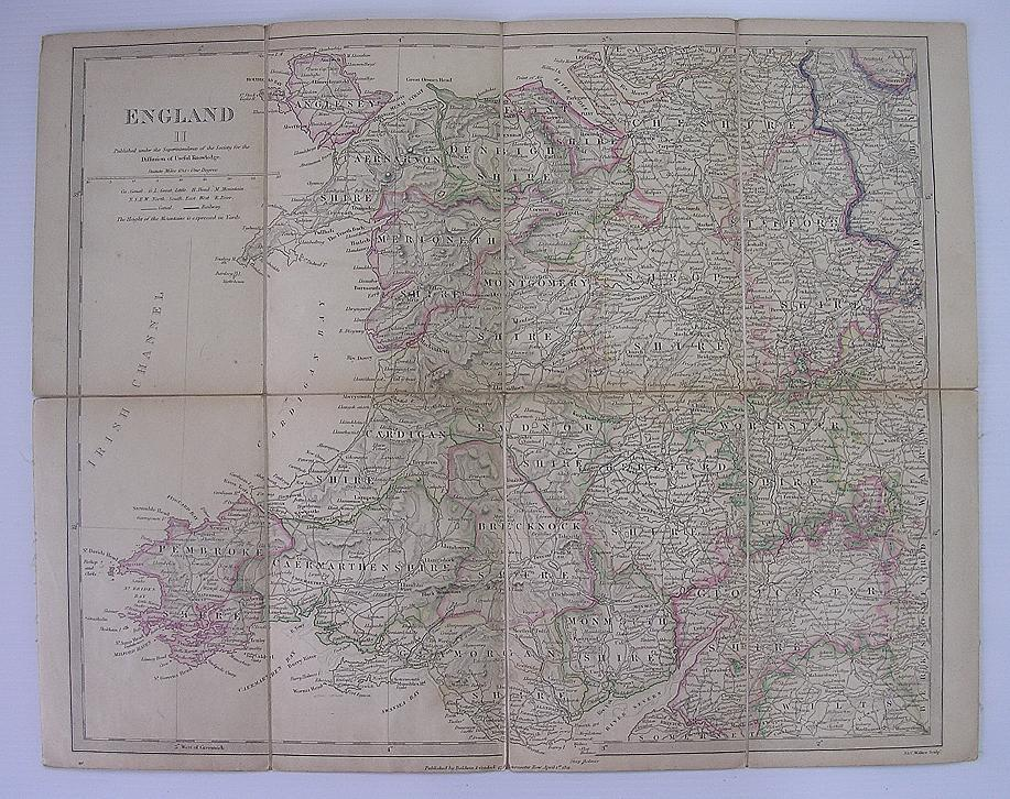 1831 MAP of The West Central Region of England - William  IV Period