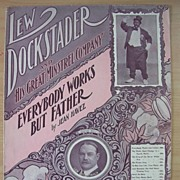 BLACK AMERICANA Sheet Music ' Everybody Works But Father'