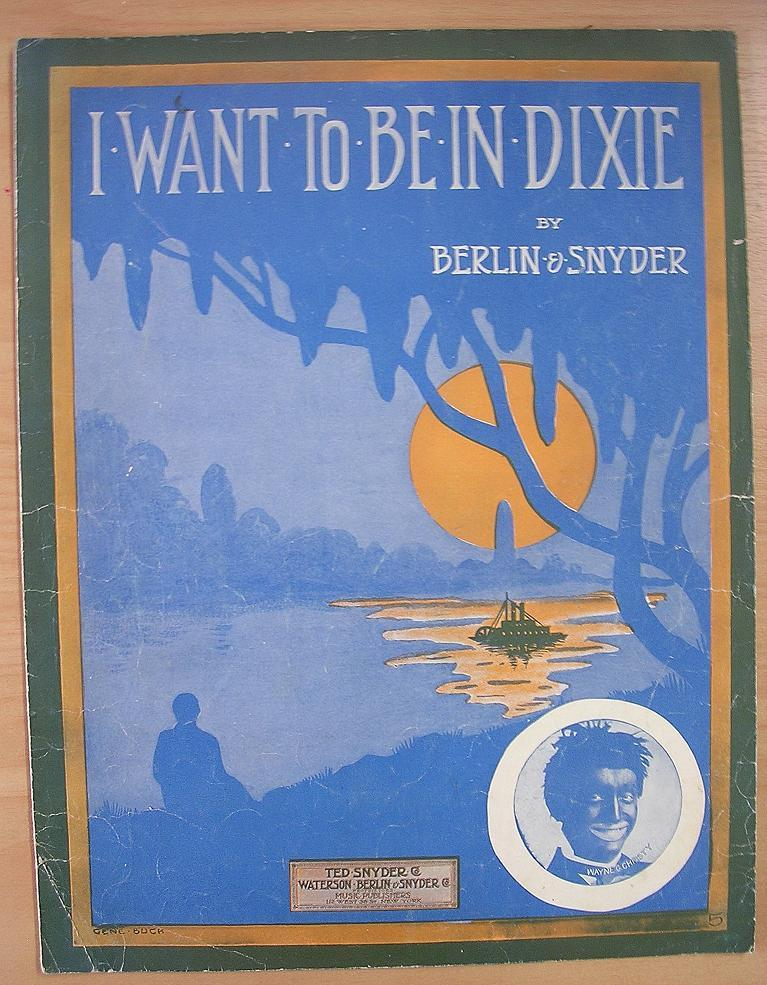 BLACK Americana Sheet Music 'I Want To Be In Dixie'