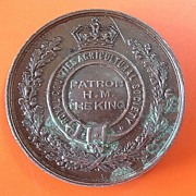 British Royal Counties Agricultural Society Medal Early 1900's