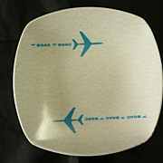BOAC Plastic Advertising Ashtray.