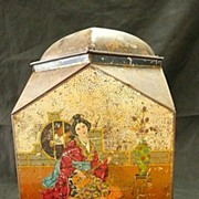 "Victorian ""VICTORY V Gums & Lozenges"" Oriental Themed Sweets Tin"