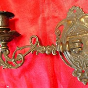 A Single Victorian Art Nouveau Piano Candle Sconce