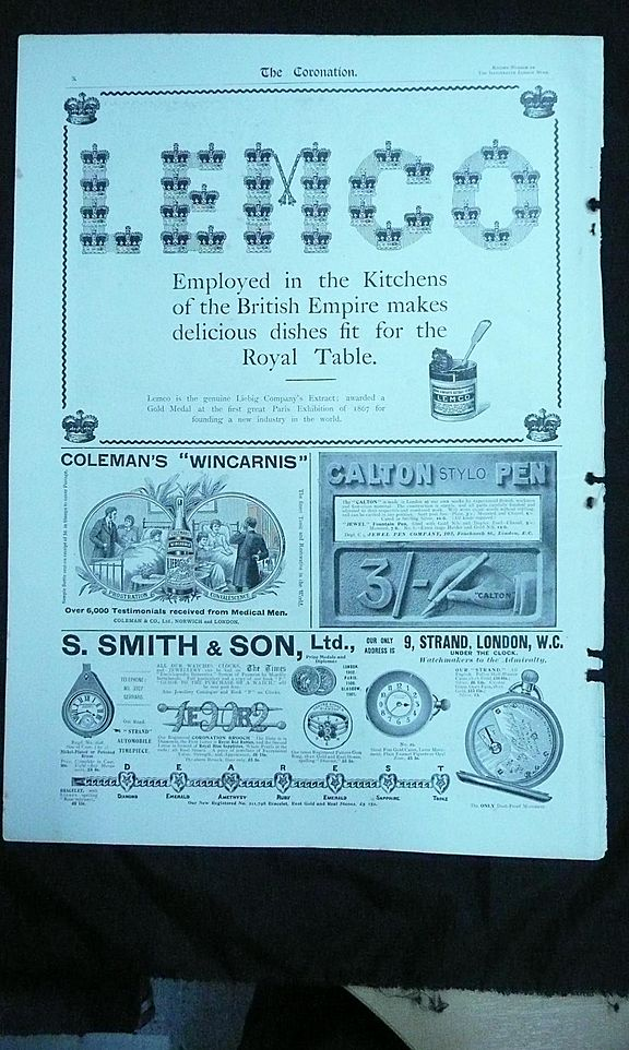 """Original Full Page """"Mixed"""" Adverts Illustrated London News 1901"""