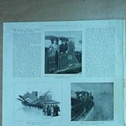 'The Record Railway Journey of The World' Full Page From The London Illustrated News 1895
