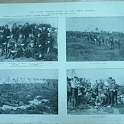 'The Army Manoeuvres in The New Forest' Two Full Pages From The London Illustrated News 1895