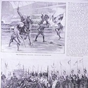 'Royal Military Tournament at The Agricultural Hall' Full Page from The London Illustrated News 1892