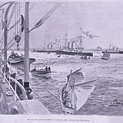 'The Channel Fleet Anchored at Mount's Bay' Full Page from The London Illustrated News August 1895