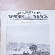"""Front Page Illustrated London News  1895 """" Scene at The Barnet Fair"""""""