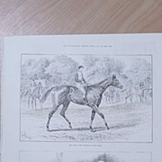 """Full Page Illustrated London News 1892  """"Sir Hydro The Winner of The Derby"""""""