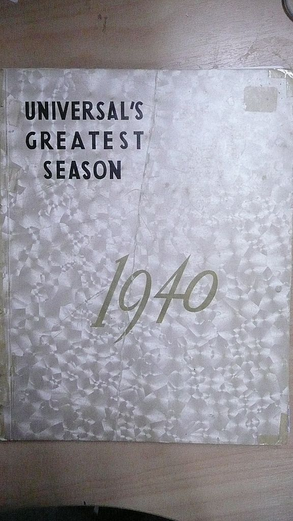 UNIVERSAL'S Greatest Season 1940 Large Movie  Publicity Release