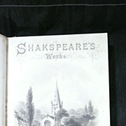 The Complete Works of SHAKESPEARE in 3 Volumes Circa 1860