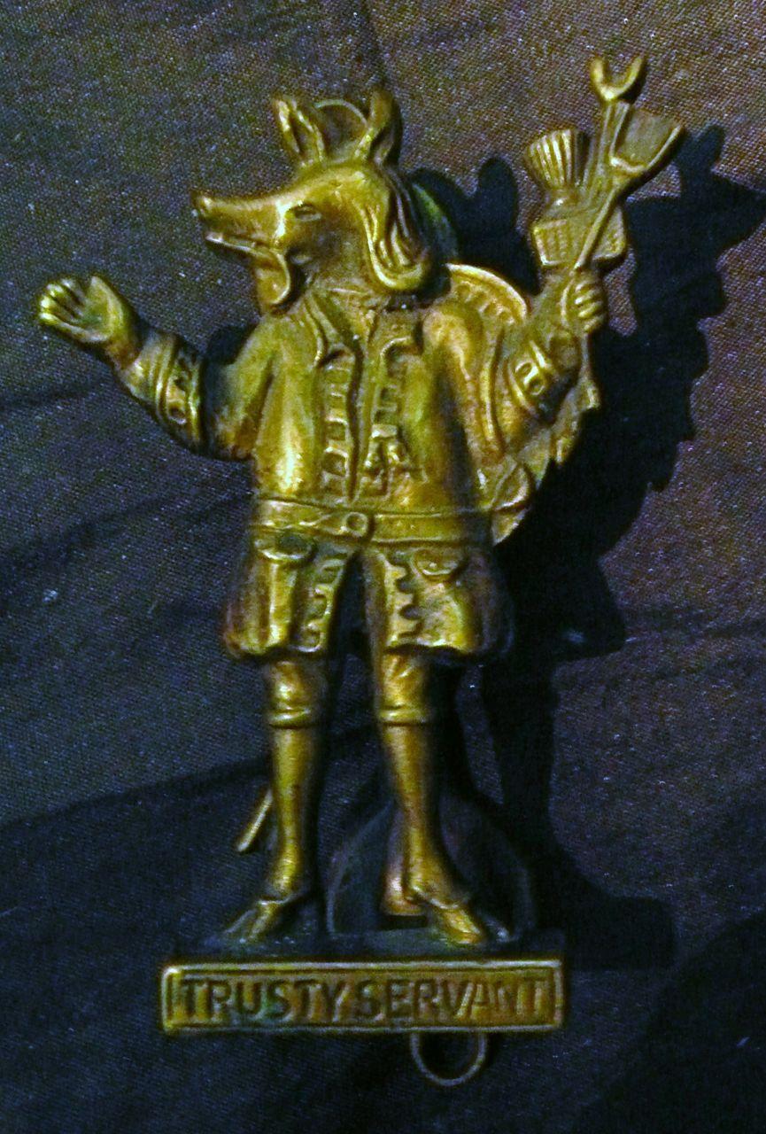"""Trusty Servant"" Old English Door Knocker Circa 1910-1915"