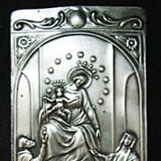 Silver Roman Catholic EX VOTO  'Ave Maria'   From Peru