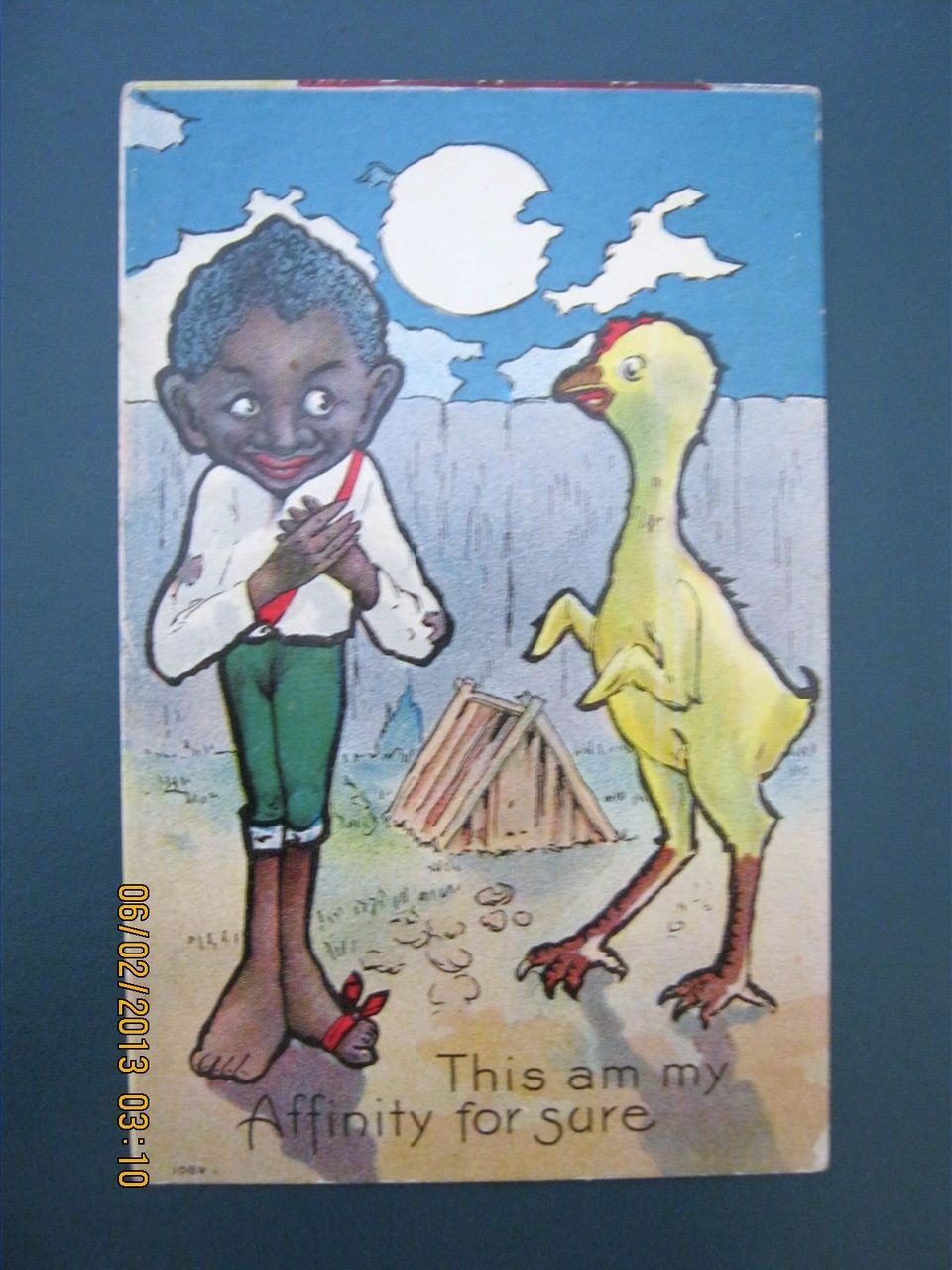 """Black American Postcard """" This am my Affinity for sure"""":"""