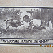 "Black American Postcard "" Whose Baby Is OO?"""