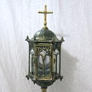 Elegant Early 1900's Brass MONSTRANCE or Custodia