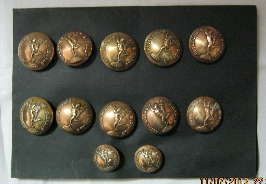 Royal Corps Signals 12 buttons