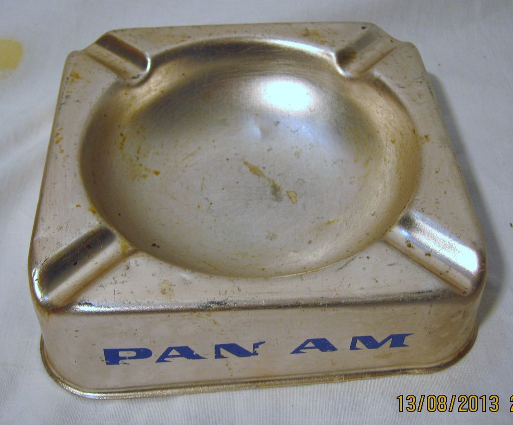 PAN AM Advertising Promotional Ashtray - Circa 1960